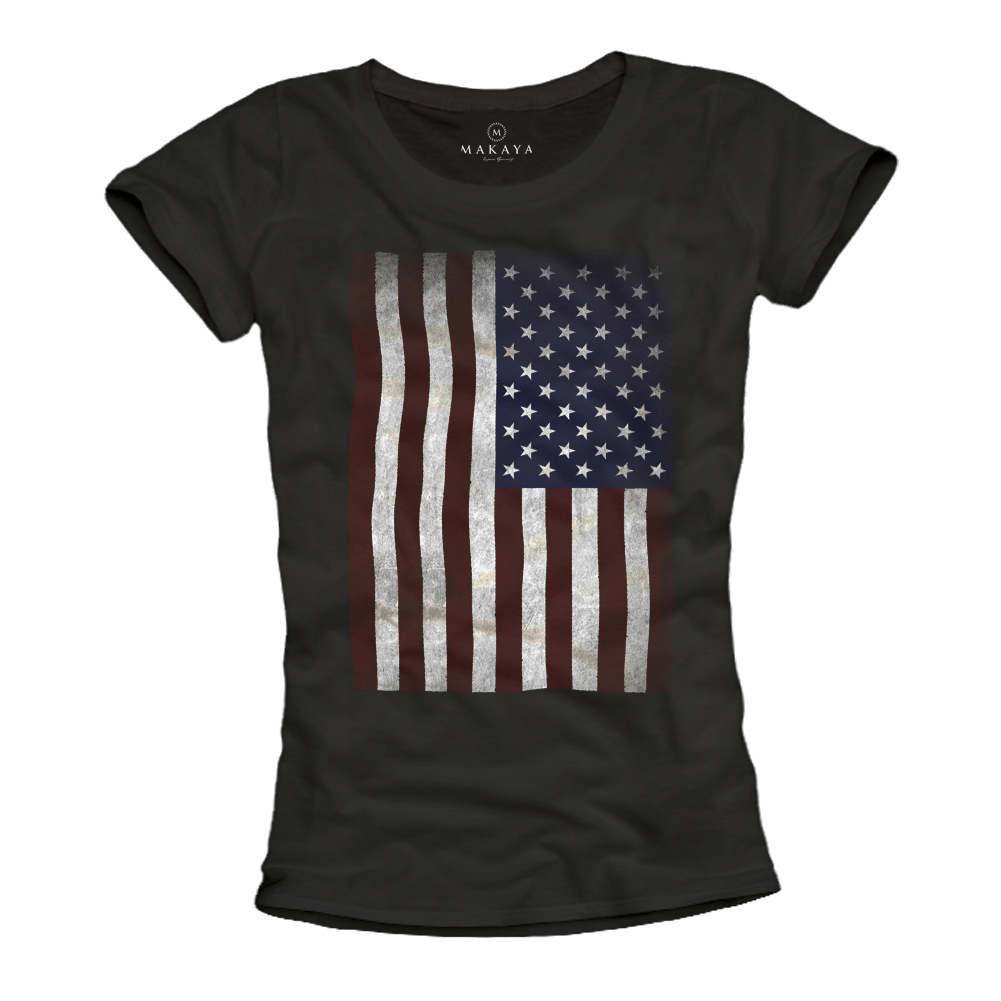 Damen Shirt - USA Flagge