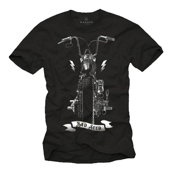 Herren T-Shirt - Biker Motiv Evolution - Bad Seed