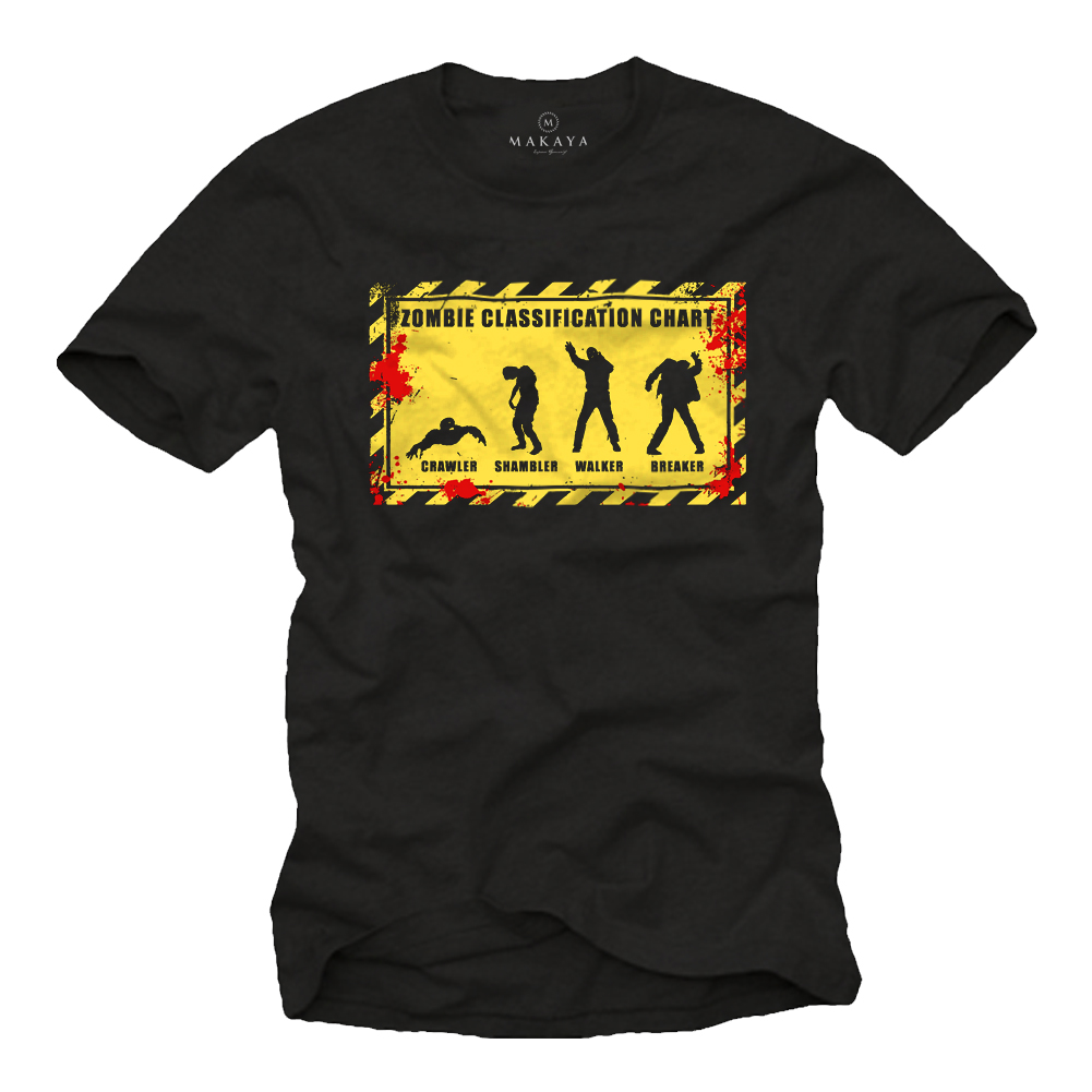 Herren T-Shirt - Walking Dead Motiv - Kill Zombies