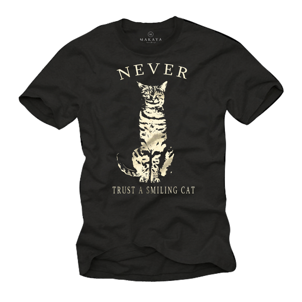 Herren T-Shirt - NEVER TRUST A SMILING CAT