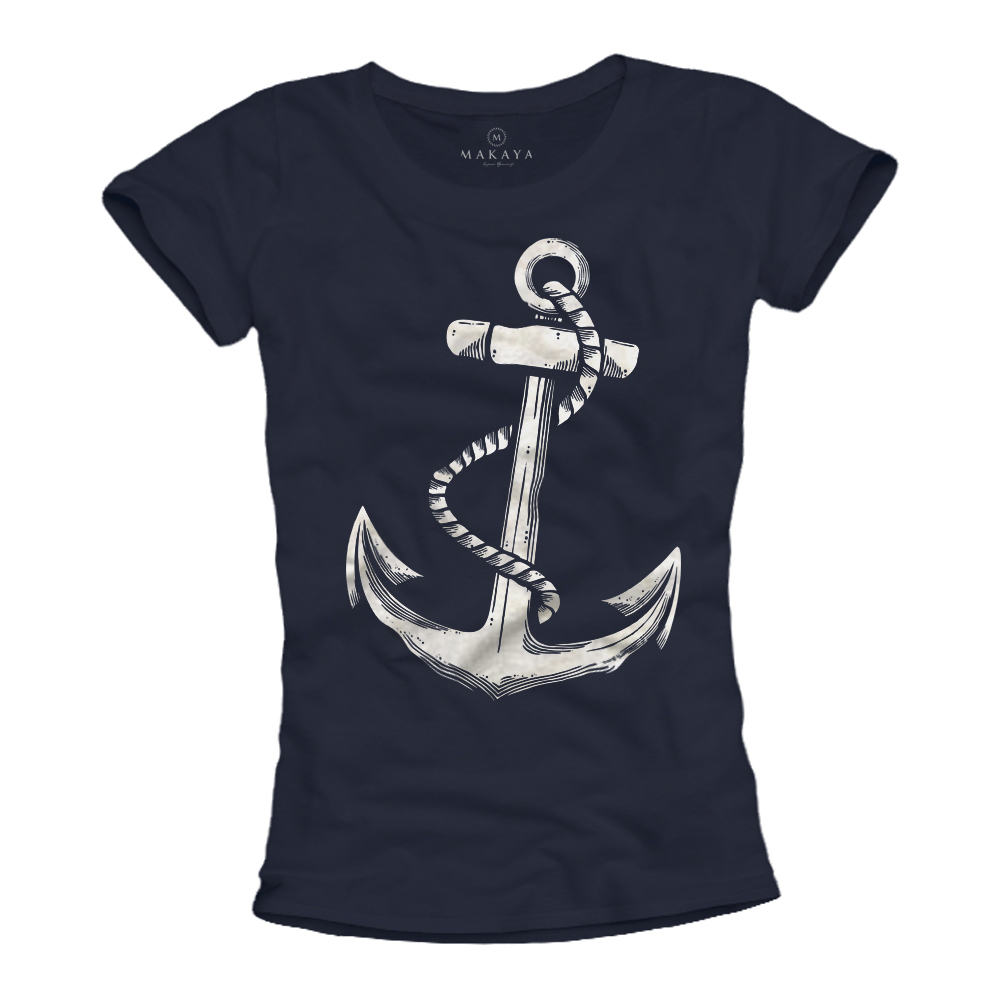 Damen Shirt - Tattoo mit Anker